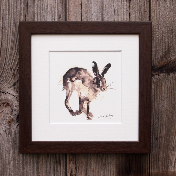 Ink painting of a hare.