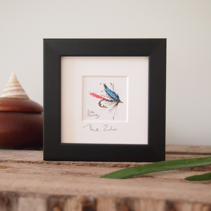 Print of a fishing fly